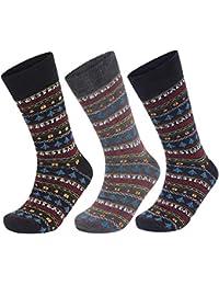 809080080672f Pack of 3 Mens BEST DAD EVER Designer Cotton Rich Fairisle Christmas Socks  Shoe Size 6