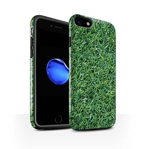 STUFF4 Glanz Harten Stoßfest Hülle / Case für Apple iPhone 8 / Vene Muster / Pflanzen/Blätter Kollektion Gras / Rasen