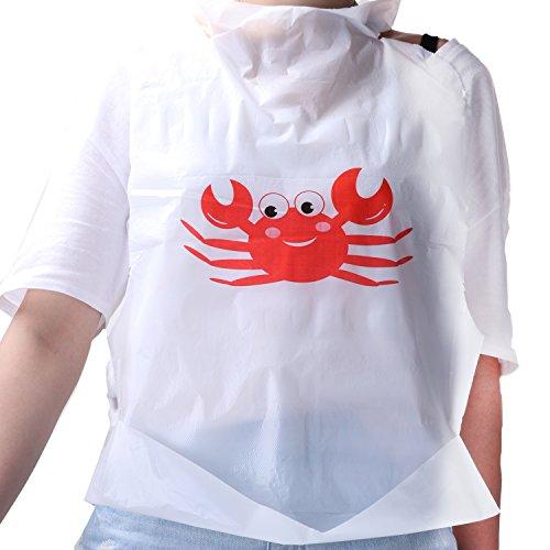 Sea Food Design und Party Angebot Einweg-Lätzchen aus Kunststoff (100Stück)