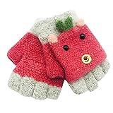 Selou neueste fingerlose Handschuhe Mädchen Junge Winter Cartoon Patchwork Stitching warme Handschuhe Fruchtfarben Handschuhe gartenhandschuhe fleece handschuhe kinderhandschuhe jahre reithandschuhe