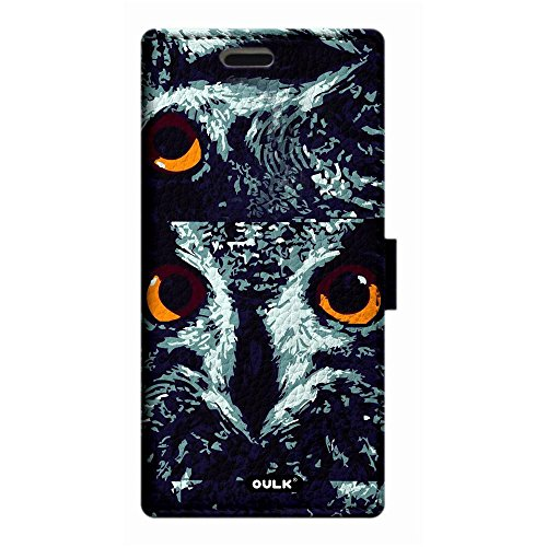 OULK(R) Apple iphone 7 4.7 inch PU Litchi Leather Owl Face in Dark Night Wallet Kickstand Case For iphone 7 4.7 (MD18) MD18