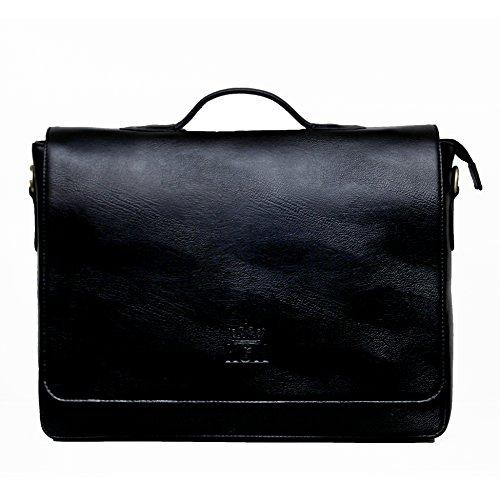 - 51ZJmuAkGNL - KGNExportsHouse , 15 Inch Leather Laptop Satchel Bag Women Men – Shoulder