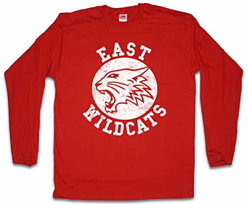 Urban Backwoods East Wildcats Herren Langarm T-Shirt Rot Größe (Cats Musical Kostüm Machen)