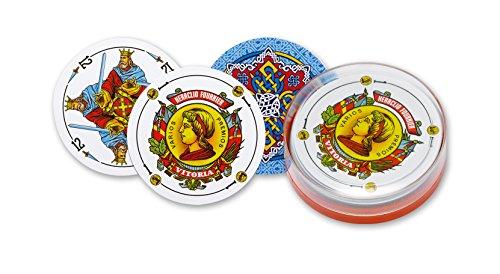 Fournier - Circular, cartas españolas, color azul (F21596)