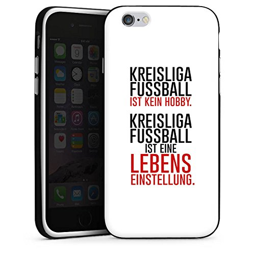 Apple iPhone X Silikon Hülle Case Schutzhülle Kreisliga Lebenseinstellung Fußball Silikon Case schwarz / weiß