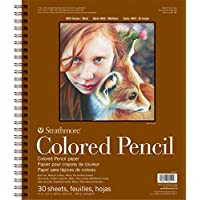 "Strathmore 400 Series Colored Pencil Pad, 11""x14"" Wire Bound, 30 Sheets"