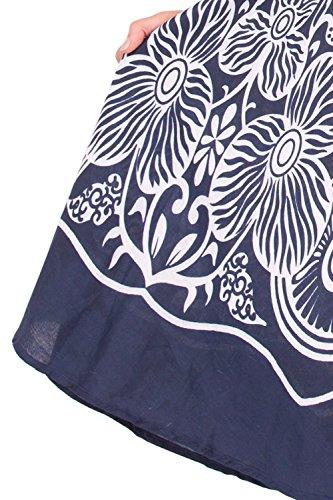 Pistachio Femmes À Rayures Fleur Motif Cachemire Imprime Croisé Front Robe Navy Buttercup