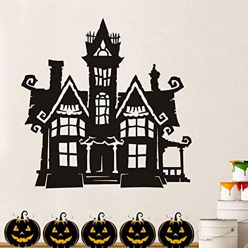 ALXCHD Halloween Haunted Tower House Vinyl Entfernbare Wandtattoo Home Decor Hallowmas Wandaufkleber Für Wohnzimmer Halloween ()