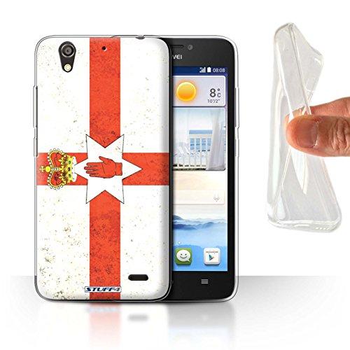 Stuff4® Gel TPU Hülle/Case für Huawei Ascend G630 / Nordirland/Irische Muster/Flagge Kollektion