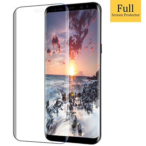 Protector de Pantalla Samsung Galaxy S8 Plus,Vicksongs Galaxy S8 Plus Cristal Templado 3D Full Coverage Transparencia Total Vidrio Templado Screen Protector para Samsung Galaxy S8 Plus