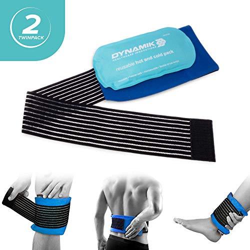 Große wiederverwendbare heiß und kalt Packung mit Druckmanschette- zurück Knie Schulter Knöchelverletzung ( Packung mit 2) -