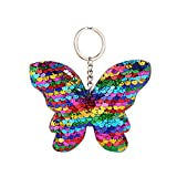 TIFIY Pailletten reflektierende Schmetterling glänzende Bogen Key Anhänger 1 stück Damen Tasche Schlüsselring (Mehrfarbig)