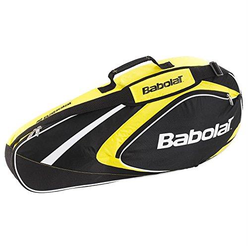 BABOLAT X3Club Line Sac pour raquettes de tennis Jaune/noir Jaune 74 x 14 x 33 cm, 22 Liter