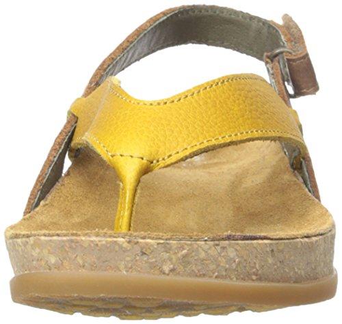 El Naturalista NF40 femmes Tong jaune/brun