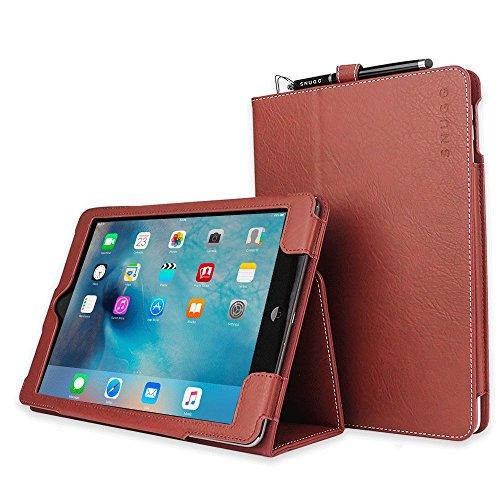 Snugg iPad Air Caso (Dusty Cedar Red), Copertina in Ecopelle Intelligenti, Rivestimento Interno di Qualità in Nabuk, Supporto Flip-stand con una Garanzia a Vita per Apple iPad Air - Red Copertina