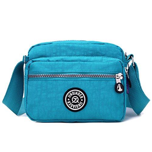 Outreo Borse a Spalla Casuale Borsello Donna Borse da Moda Leggero Borsa Tracolla Impermeabile Sacchetto Sport Bag Borsetta Ragazze Blu 3