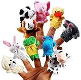 #3: SahiBUY Set Of 10 Animal Finger Puppets