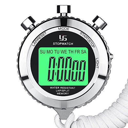 11b5433e84b5 LAOPAO Cronómetro Profesional Reloj Deportivo Digital Cronómetro con luz de  Fondo 0.01 Segundos 2 Lap Memories
