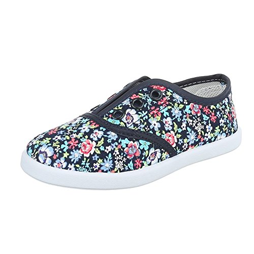 Ital-Design - Low-top Bambina Blau Multi