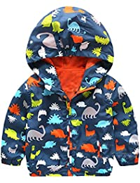 Minetom Niños Pequeños Cortavientos Impermeable Chaqueta Con Capucha Niña Manga Larga Animal Rompevientos Chubasquero Abrigo Outwear