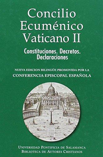 Concilio ecuménico Vaticano II. Constituciones. Decretos. Declaraciones (NORMAL) por Conferencia Episcopal Española