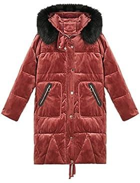 lime Elegante manga larga suelta con capucha abajo chaqueta Invierno cálido capa gruesa suave mujer cómoda capa...