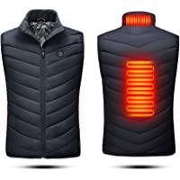 QTER Electric Heated Vest For Man/Woman, USB Charging Electric Body Warmer Gilet with 3 Temperature Adjust and 3 Heating…