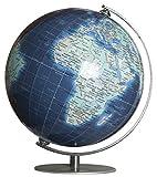 Columbus DUO AZZURO: Miniglobus, 12 cm Durchmesser, handkaschiert, politisch m. Kontinent-Vignettierung und dunkelblauen