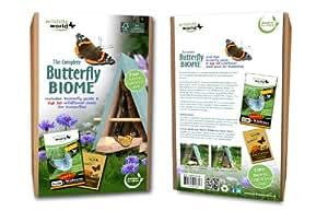 Wildlife World - Rifugio per farfalle con mix di semi dei dieci migliori fiori di campo
