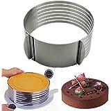 HeroNeo® Cortador ajustable de acero inoxidable para tarta, de 16 a 20 cm
