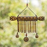 ExclusiveLane Wooden Handmade Decorative Hanging With Hand Burnt Design - Door Hanging Wind Chimes  Home Decoration Item