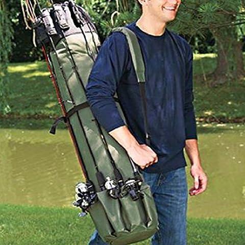TLBBA Canne à pêche Sac Transport de Grande Capacité à Bandoulière Carry Pêche Tackle Pour 120 cm