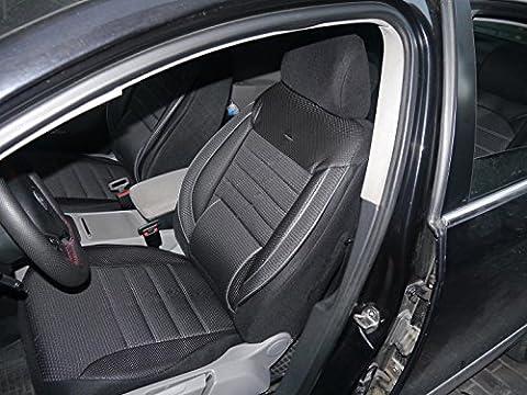 Sitzbezüge Schonbezüge für Jeep Wrangler III No3 schwarz-grau komplett