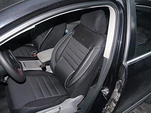 Coprisedili per auto no3 nero-grigio protettori set completo per sedili anteriori e posteriori