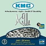 KMC X9  - Cadena para bicicleta con 9 velocidades, color plata