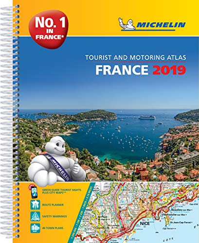 France 2019 -A4 Tourist & Motoring Atlas: Tourist & Motoring Atlas A4 spiral (Michelin Road Atlases)
