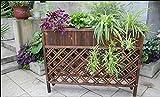 Blumenregal Outdoor Anti - Korrosion Holz Zaun Trennwand Blumen Racks Massiv Holz Balkon Blumentopf Blumenkasten Boden Töpfe Regal (Größe : 120cm)