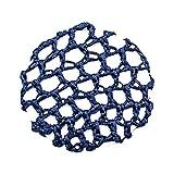 A&A Hair Beauty Haarschmuck Haarnetz Bun Frisurenhilfe Haar Knotennetz Netz Hair Dutt Ballett Stoff elastisch (Blau)