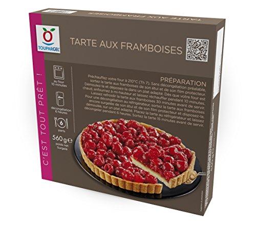 TOUPARGEL - Tarte aux framboises - 560 g - Surgelé