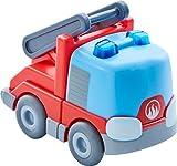 HABA 303844 - Kullerbü – Feuerwehr-Leiterwagen    Motorikspielzeug von 2-8 Jahren   Tolles Zubehör für alle Kullerbü-Bahnen