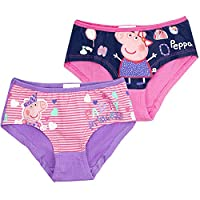 Official Peppa Pig, Girl's Underwear Boxers Briefs 2-PACK Cottonrich - New 2017 - Set1 2/4