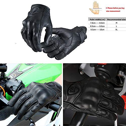 ViZe Guanti Moto Pelle Inverno Estivi Protezione Raffinata Antiscivolo Traspirante con Touch Screen