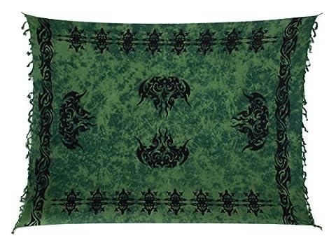 Sarong Pareo Wickelrock Strandtuch Tuch Wickeltuch Handtuch Bunte Sommer Muster Set Gratis Schnalle Schließe Keltisch Grün