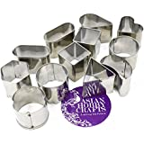 AsianHobbyCrafts Stainless Steel Mini Cookie/Biscuit/Cupcake Cutter (ASNHC1937_A)-Set Of 12 Shapes
