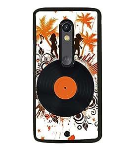 Fuson Designer Back Case Cover for Motorola Moto X Style :: Moto X Pure Edition (party masti gramophone CD dance)