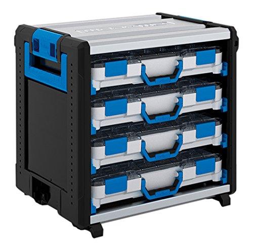 Sortimo WorkMo 24-500 inklusive 8 Kofferschienen und 4 T-BOXXen H Standard, 1000003823 (Standard-arbeitsplatte Breite)