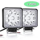 QXXZ LED Work Light, 2PCS LED Driving Fog Lights Off Road Luce Di Lavoro Faro Di Retromarcia Backup LED 27W