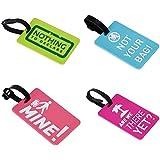 étiquettes de bagage, en PVC de différents couleurs, lot de 4 étiquettes de bagage pour voyage
