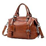 TianWlio Handtasche Damen Tasche Vintage Vier Gürtel Schultertasche Pailletten Damen Handtaschen braun