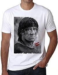 Sylvester Stallone 2 T-shirt,cadeau,Homme,Blanc,t shirt homme